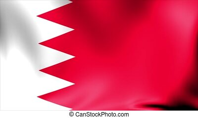 Bahrain Flag. Background Seamless Looping Animation.