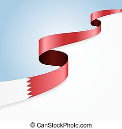 Bahrain flag wavy abstract background. Vector illustration.