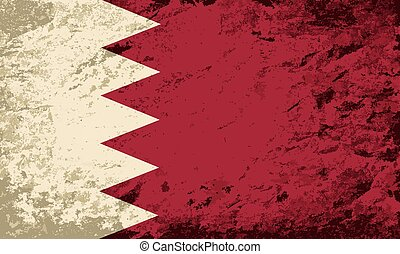 Bahrain flag. Grunge background.