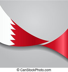 bahrain, flag., ondulé, illustration., vecteur