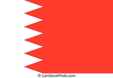 Bahrain flag vector graphics