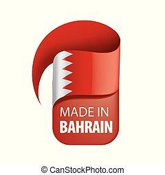 Bahrain flag, vector illustration on a white background.