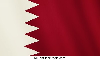 Bahrain flag waving animation. Full Screen. Symbol of the country.