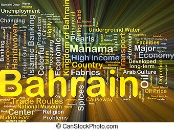 bahrain, gloeiend, concept, achtergrond