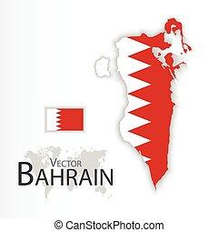 Bahrain ( Kingdom of Bahrain ) ( flag and map ) (...