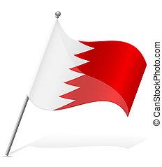 bahrain lobogó, vektor, ábra