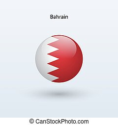 Bahrain round flag. Vector illustration.