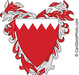 Vector coat of arms of Bahrain