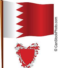 bahrain vlag, golvend