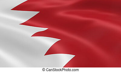 Bahraini flag in the wind. Part of a series.