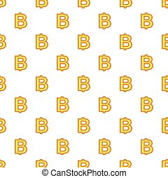 Baht currency symbol pattern, cartoon style