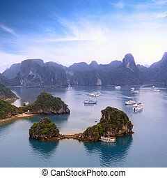 baia halong, vietnam, vista panoramica