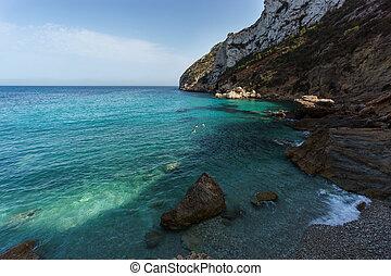 baia, in, mare mediterraneo