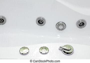 baignoire, contemporain, hydromassage