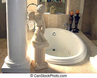 baignoire romantique romantique bougies d tail lit photographie de stock rechercher. Black Bedroom Furniture Sets. Home Design Ideas