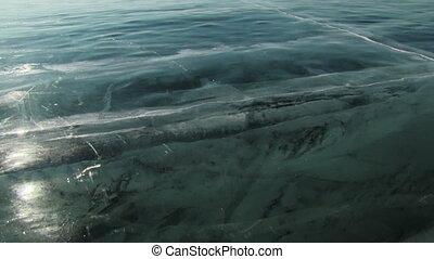 Baikal ice. - Winter Baikal lake in Siberia, Russia