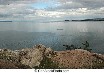 Baikal in the summer - Russia. Siberia. Baikal - fresh-water...