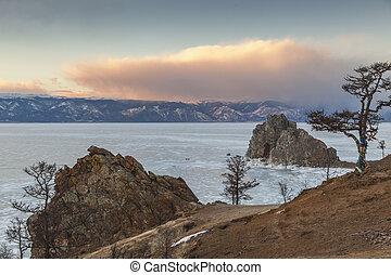 Baikal Lake. Olkhon Island in winter time