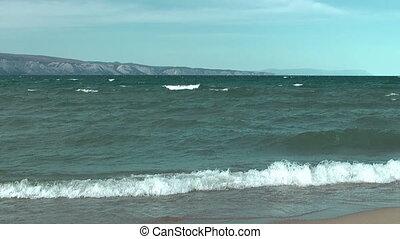 Baikal lake - Olkhon island on Baikal lake. Khuzhir village