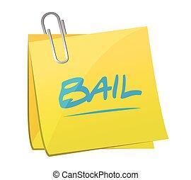 bail memo post illustration design