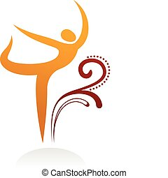 bailando, figura, -, 3