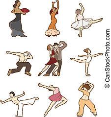 bailando, garabato