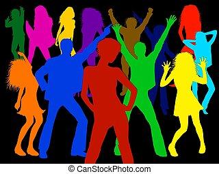 bailando, gente