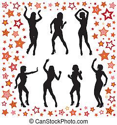 bailando, mujeres
