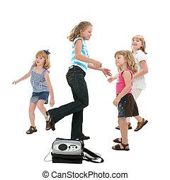 bailando, niños