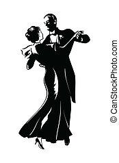 bailando, par
