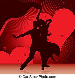bailando, parejas