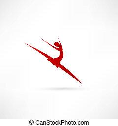 bailarín de ballet clásico, icono