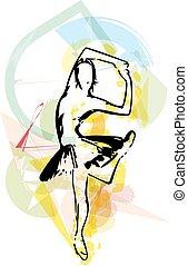 bailarín de ballet clásico, ilustración