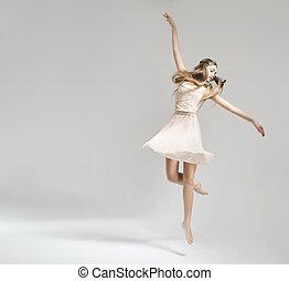 bailarín de ballet clásico, joven, bastante