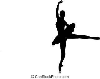 bailarín de ballet clásico, silueta