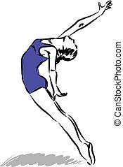 bailarín, ilustración, 2