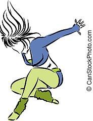 bailarín, ilustración