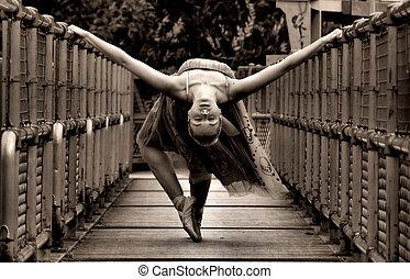 bailarina, arte, multa