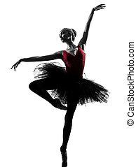 bailarina, balé, dançar mulher, jovem, dançarino