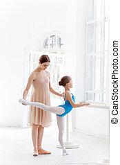 bailarina, ballet, personal, poco, baile, posar, barre, ...