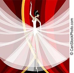 bailarina, blanco
