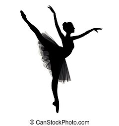bailarina, branco, fundo