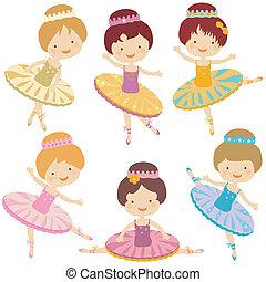 bailarina, conjunto
