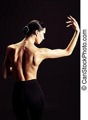 bailarina, costas