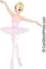 bailarina, dançar