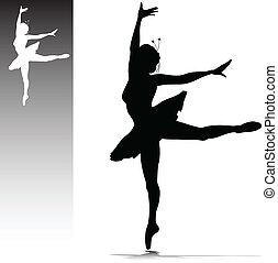 bailarina, ilustração
