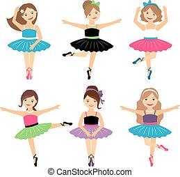 bailarina, pequeno, jogo, meninas