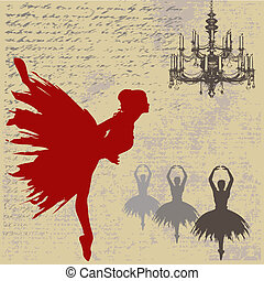 bailarina, plano de fondo