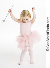 bailarina, poco, tenencia, varita