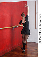 bailarina, prática, jovem, barzinhos, estúdio